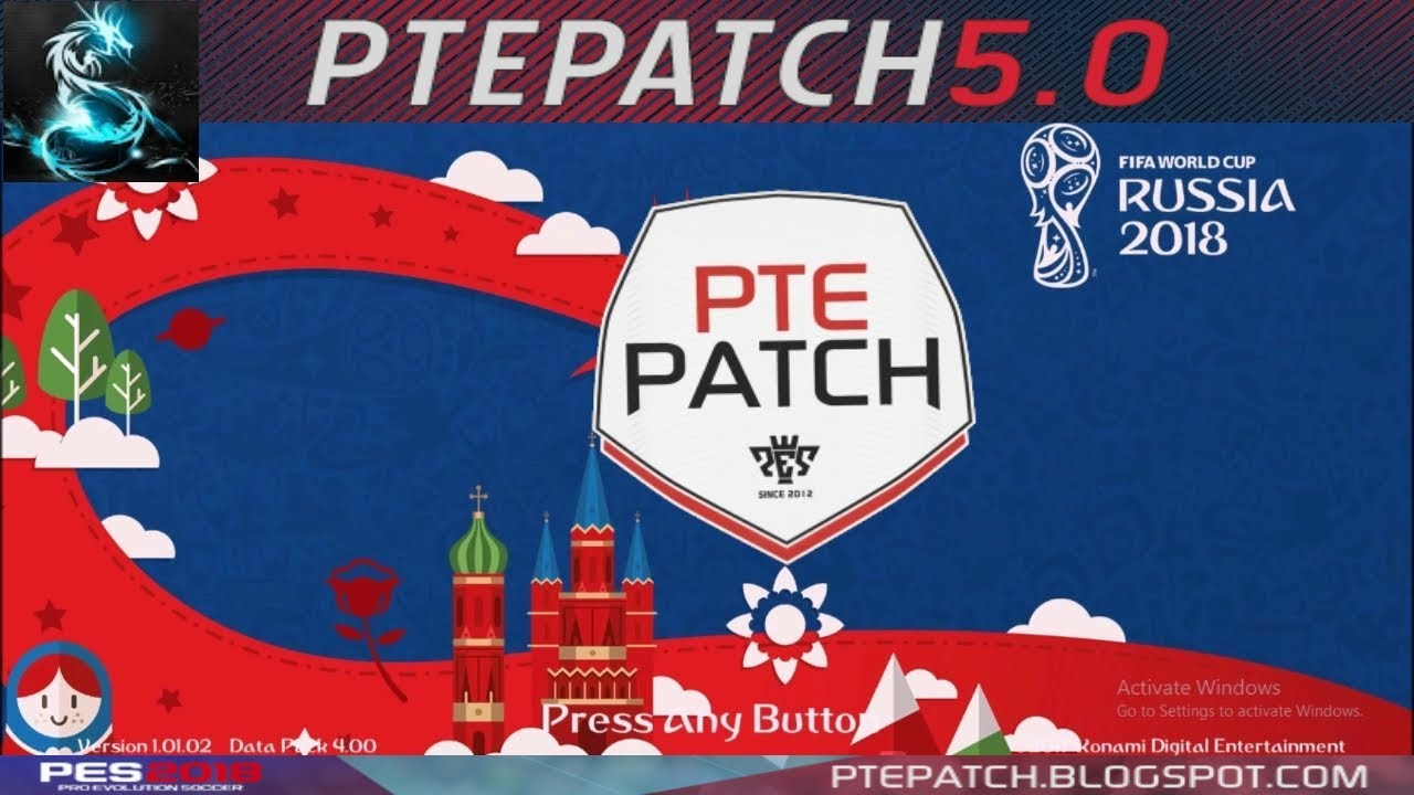 b5e970bd40c  PES18  PTE 2018 5.0 + World Cup Russia Patch