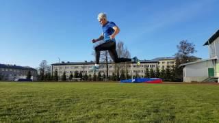 Тренировка на стадионе. Плиометрика. Спринтерские упражнения.