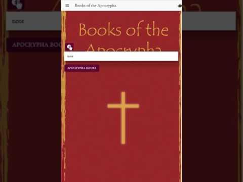 Apocrypha Books