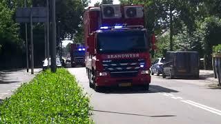 Brandweer Barendrecht (VC&MC) met spoed onderweg voor een Zeer grote brand GRIP1 in Rotterdam
