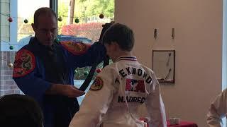 Black Belt Ceremony - Noah Ladrech rank presentation (Dec 8, 2018)
