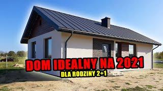Idealny dom dla rodziny 2+1. Budowa domu 2021. Dom na kryzys? IDEALNY! Zbuduj sam dom!