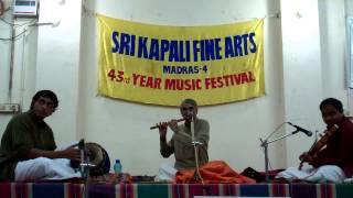 Indian Instrumental music - Classical Flute - Bhaskaran - Paluke and Sindhubhairavi  Ragam.MP4