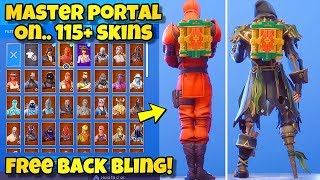 "NEW FREE ""MASTER PORTAL"" BACK BLING Showcased With 115+ SKINS! Fortnite Battle Royale FREE BACKBLING"