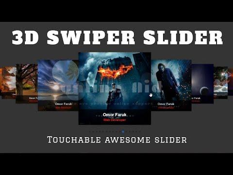 Swiper Slider 3D Touch Responsive Slide