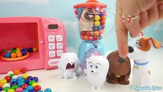 Microwave Fruits Slime Surprise Toys Disney Princess Frozen Finger Family Song Rhymes Learn Colors