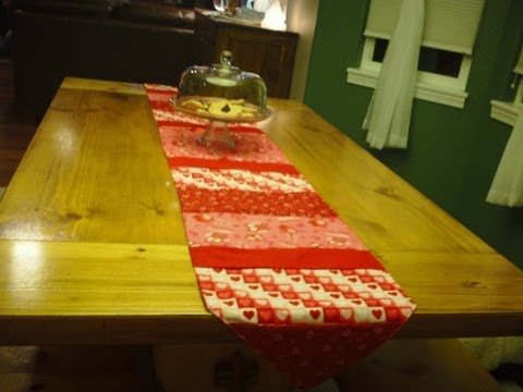 How to make a table runner doovi for 10 minute table runner placemats