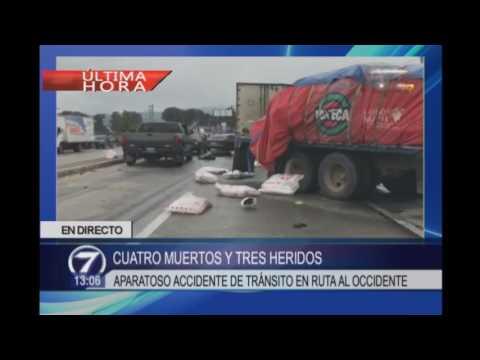 Aparatoso accidente de tránsito en Patzicía