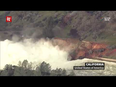 California fight to contain dam
