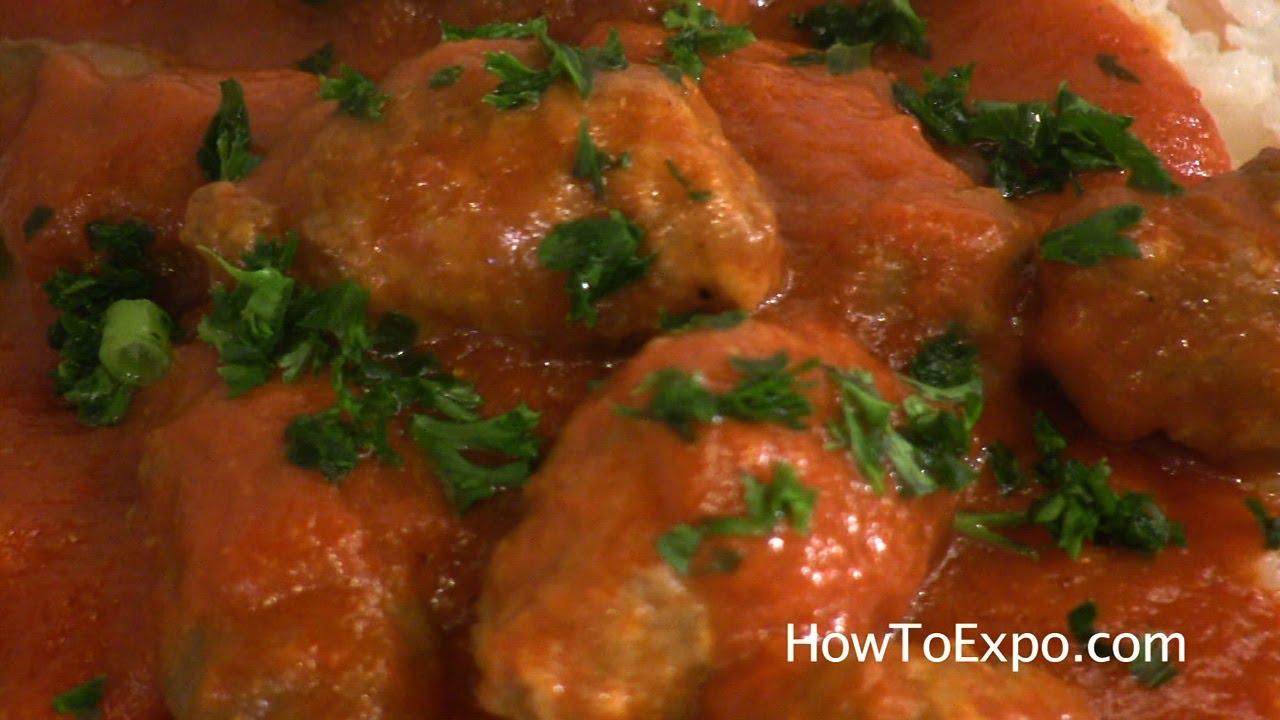 Cumin Kufta Middle Eastern Meatballs In Sauce Kofta Kufte Youtube