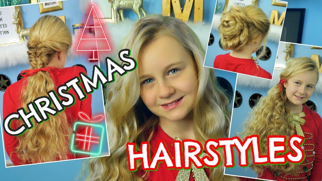 3 festliche Frisuren  Locken ohne Hitze  Mavie Noelle  YouTube