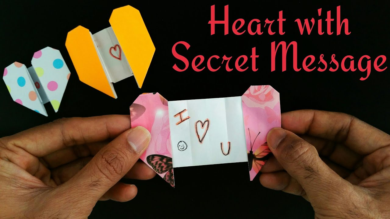 HEART GREETINGS CARD WITH A SECRET MESSAGE For Valentines Day