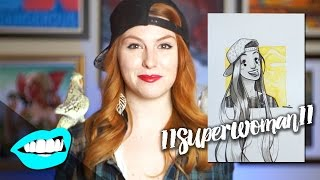 Drawing Lilly Singh // Rad Portraits with Beth Be Rad | Snarled