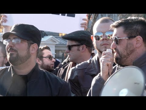 "Alt-right Face off with Antifa at White House over ""Kate's Wall"""
