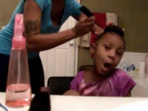 5 Minute Bun On Little Girl Hair Princess Natural Youtube