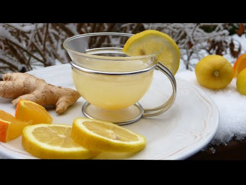 immune booster lemon and ginger tea