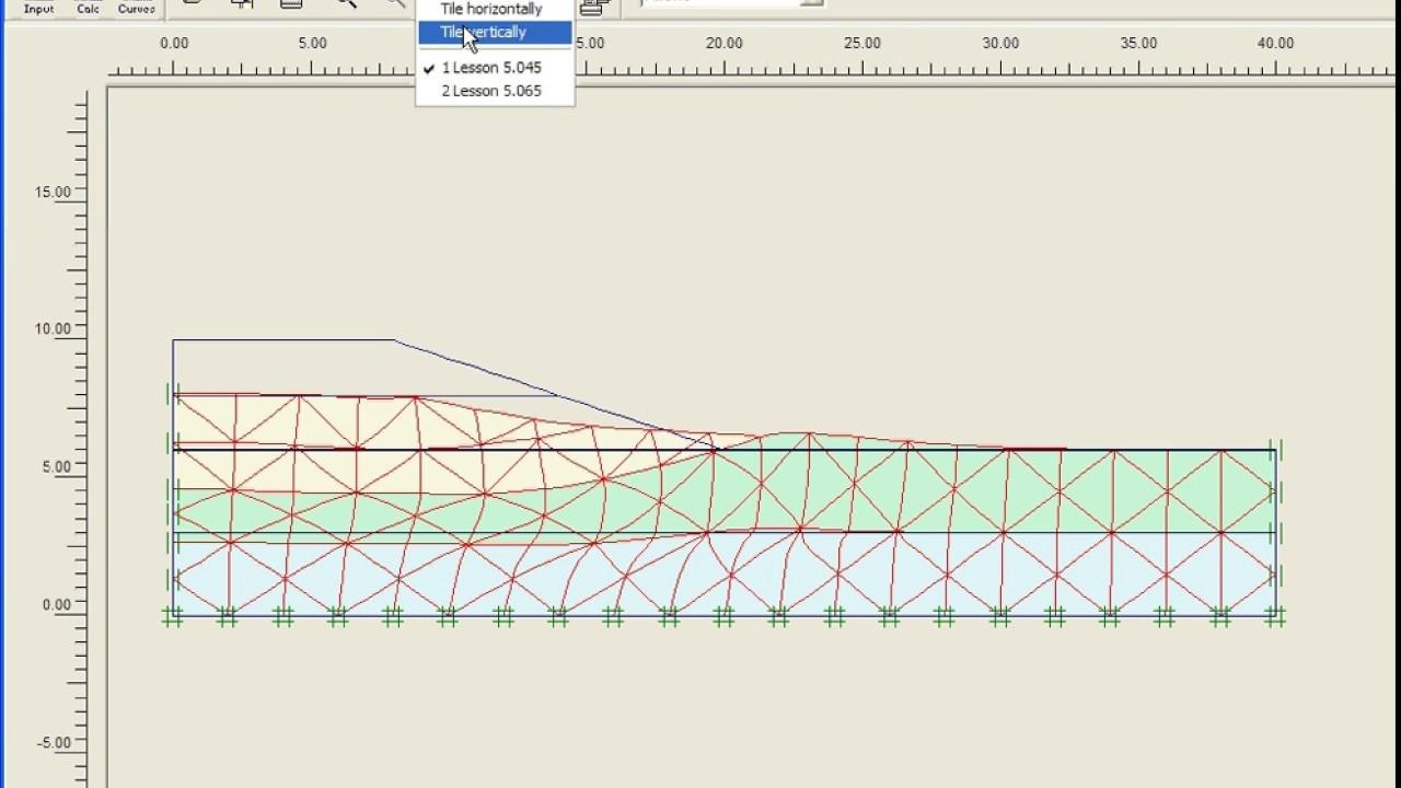 Plaxis 2d V8 Tutorial Lesson 5 Construction Of A Road Embankment