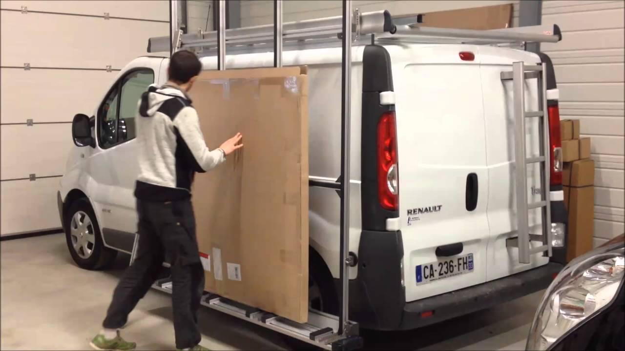 Complètement et à l'extrême Galerie pupitre latéral aluminium nouveau Trafic L1H1, véhicules &OH_44