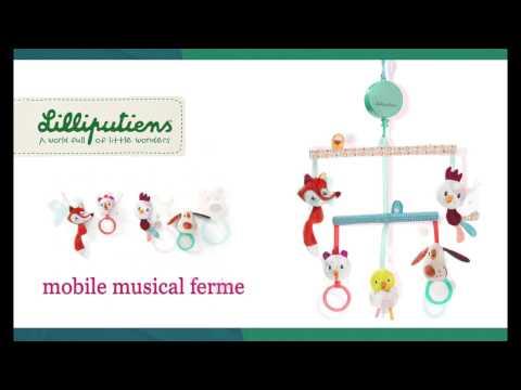 Mobile musical de lit bébé - Lilliputiens - lapouleapois.fr
