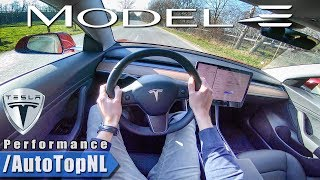 2019 Tesla Model 3 PERFORMANCE POV Test Drive by AutoTopNL