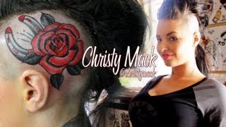 Christy Mack gets a Head Tattoo at Players Club with SullenTV