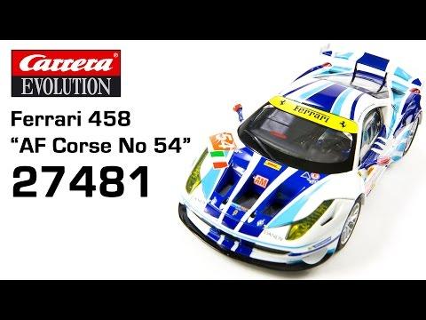 Carrera Evolution Ferrari 458 AF Corse No 54 (27481)