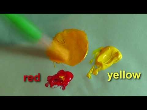 How To Mix Colors for Kids, Toddlers and Preschoolers Simple Color Mixing  For Children ,