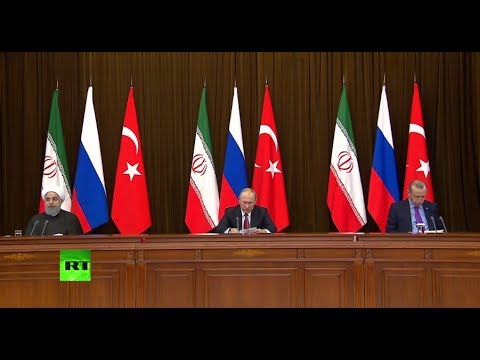 Putin, Erdogan & Rouhani speak after Syria talks in Sochi (FULL PRESSER)