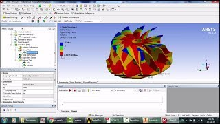 A radial turbine static structural simulation using ansys mechanical rotor&nozzle