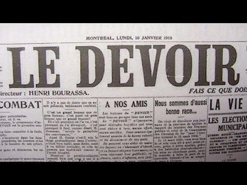 La Naissance du journal Le Devoir - 10 janvier 1910