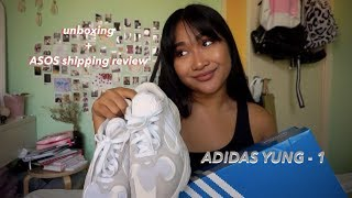 Adidas Cloud White Yung-1 unboxing +