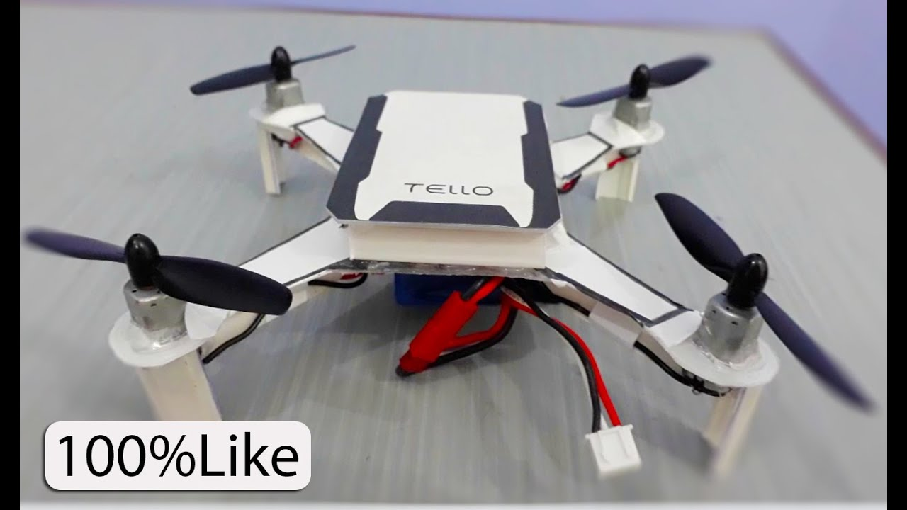 How to make drone at home - Dji Tello | plastic box drone