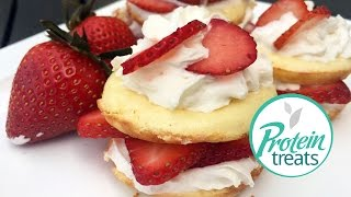 Healthy Strawberry Shortcake Recipe - Protein Treats by Nutracelle