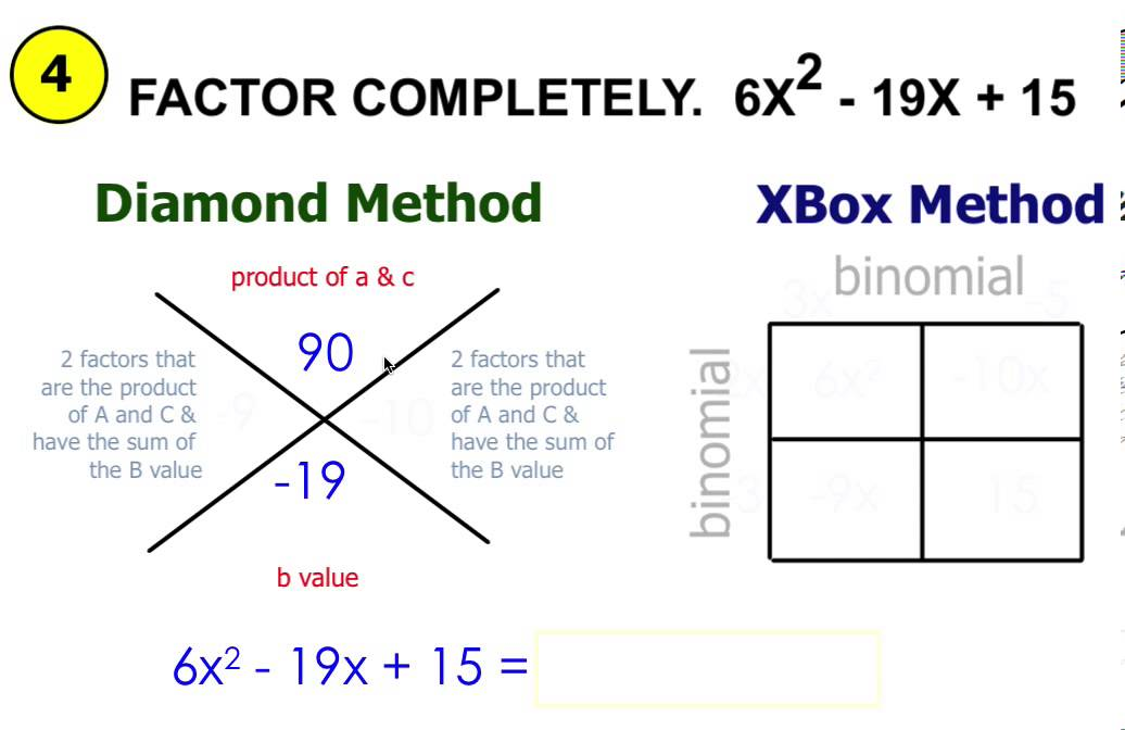 Factoring Trinomials (ax^2 + Bx + C) Using Diamond & Xbox. Internet Filter For Schools Car Accident Nj. United Mileage Partners Car Payment Per Month. Showroom Kitchen Cabinets For Sale. It Project Management Masters. Veet Spray On Hair Removal Cream Review. Exchange Monitoring Tools 2010. Most Effective Depression Medication. Colleges With Animal Majors Uhaul Ubox Size