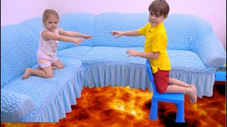 The Floor is Lava with Bogdan and Anabella