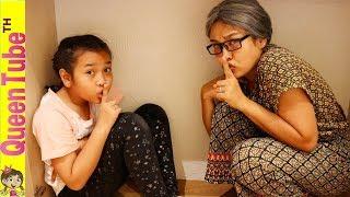 Play Hide and Seek with Nanny Skit คุณยายหายไปไหน?!! ละครสั้น น้องควีน เล่นซ่อนแอบ กับคุณยาย