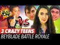 Beyblade Burst Battle Royale vs 3 Crazy Teens!  Epic Beyblade Battle, Tournament, and Funny Video!