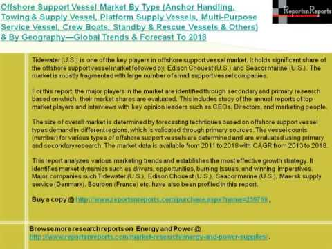 Offshore Support Vessel Industry (Anchor Handling, Towing & Supply Vessel) to 2018