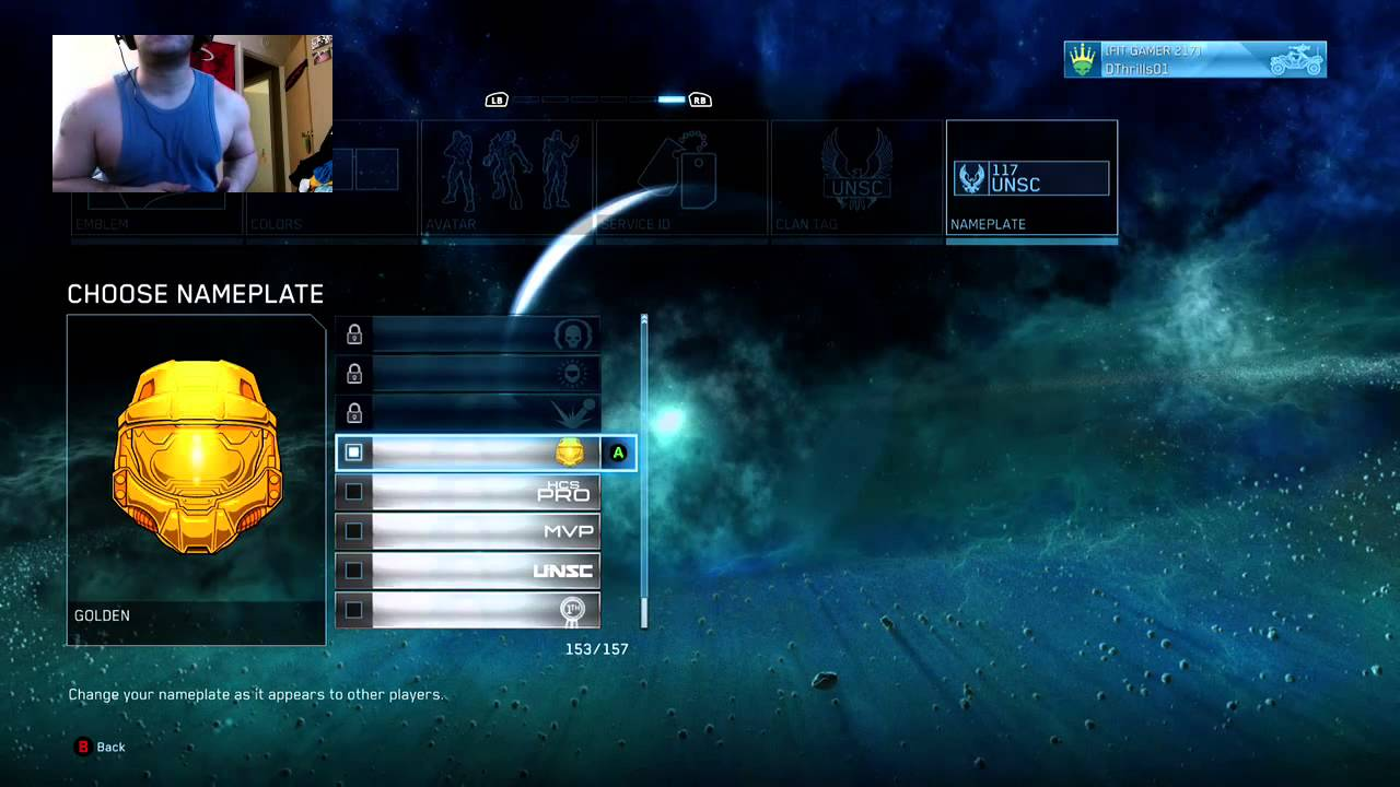 D Thrills Gold Halo Mcc Xbox Emblem Youtube