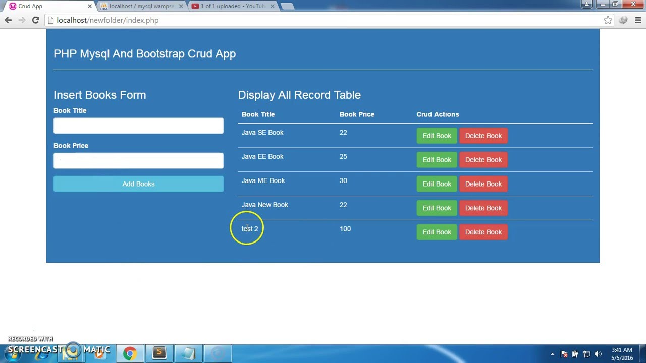 php mysql and bootstrap crud application delete record from - Php Mysql Jobs