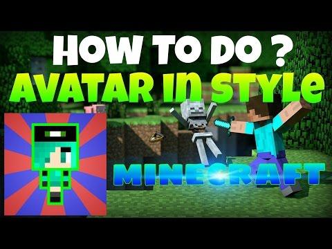 Как быстро сделать аватар в стиле майнкрафт   How to do avatar in style M NECRAFT   HOW TO DO