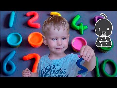 ЛЕПКА ИЗ ПЛАСТИЛИНА. Лепим цифры из пластилина. Занятие по лепке для детей