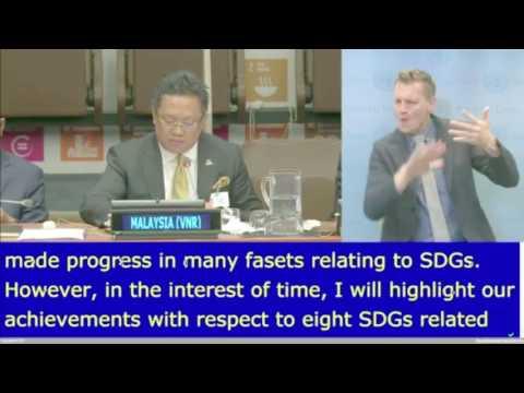 DS Rahman Dahlan at UNs High Level Political Forum, New York.