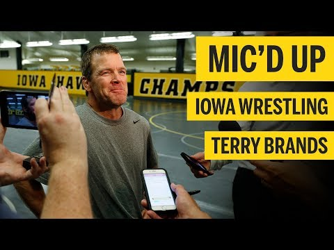 Mic'd Up: Iowa Wrestling Coach Terry Brands | Big Ten Wrestling