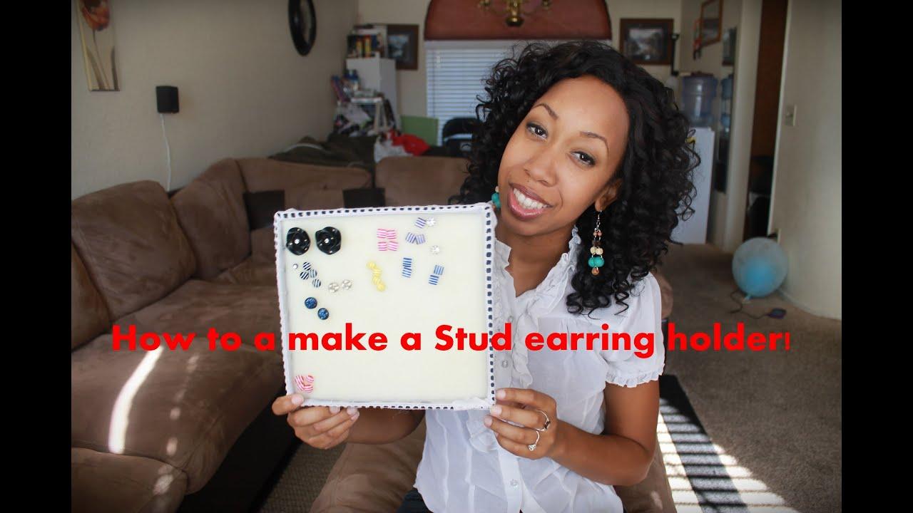 DIY Stud Earring Holder YouTube