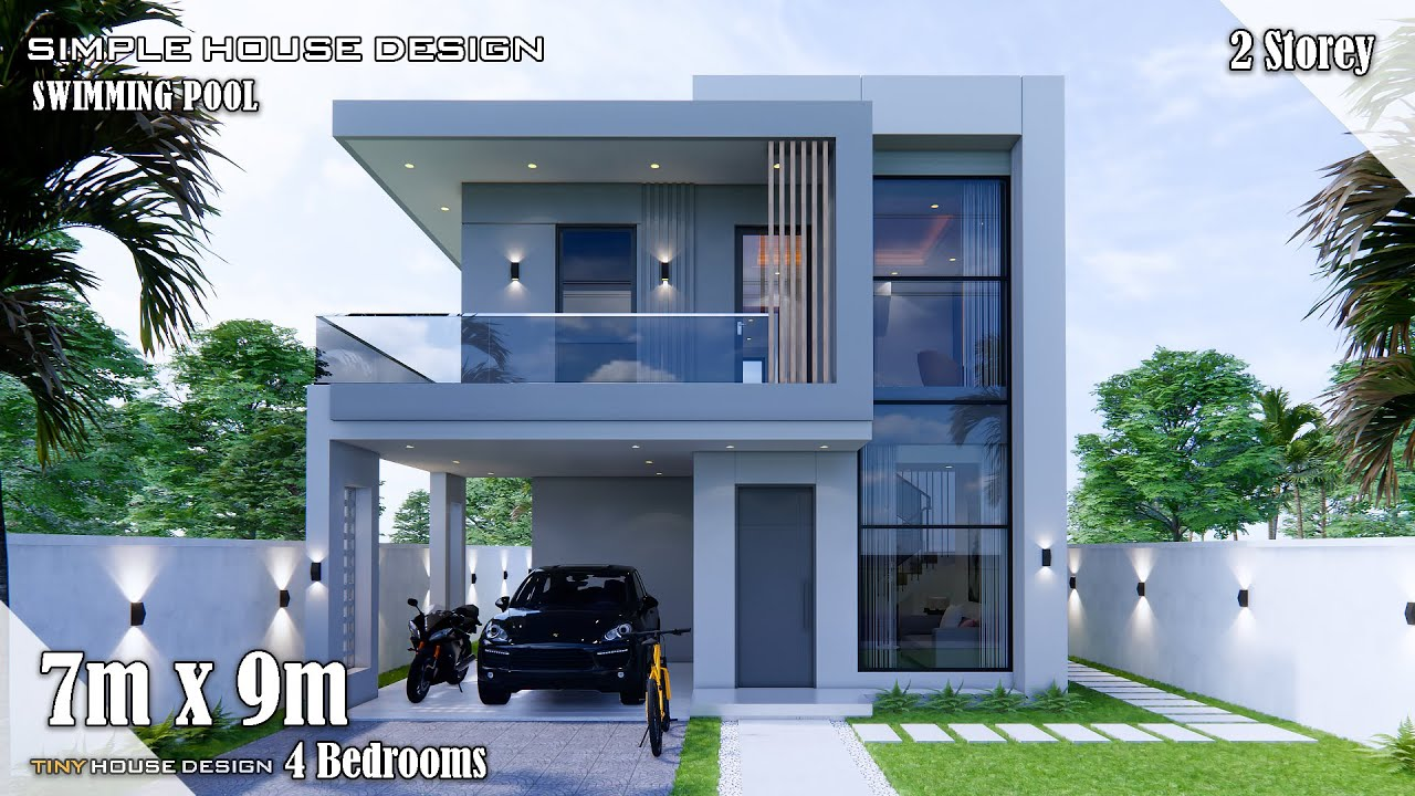 Download House Design | Simple House | 7m x 9m  2 Storey | 4 Bedrooms