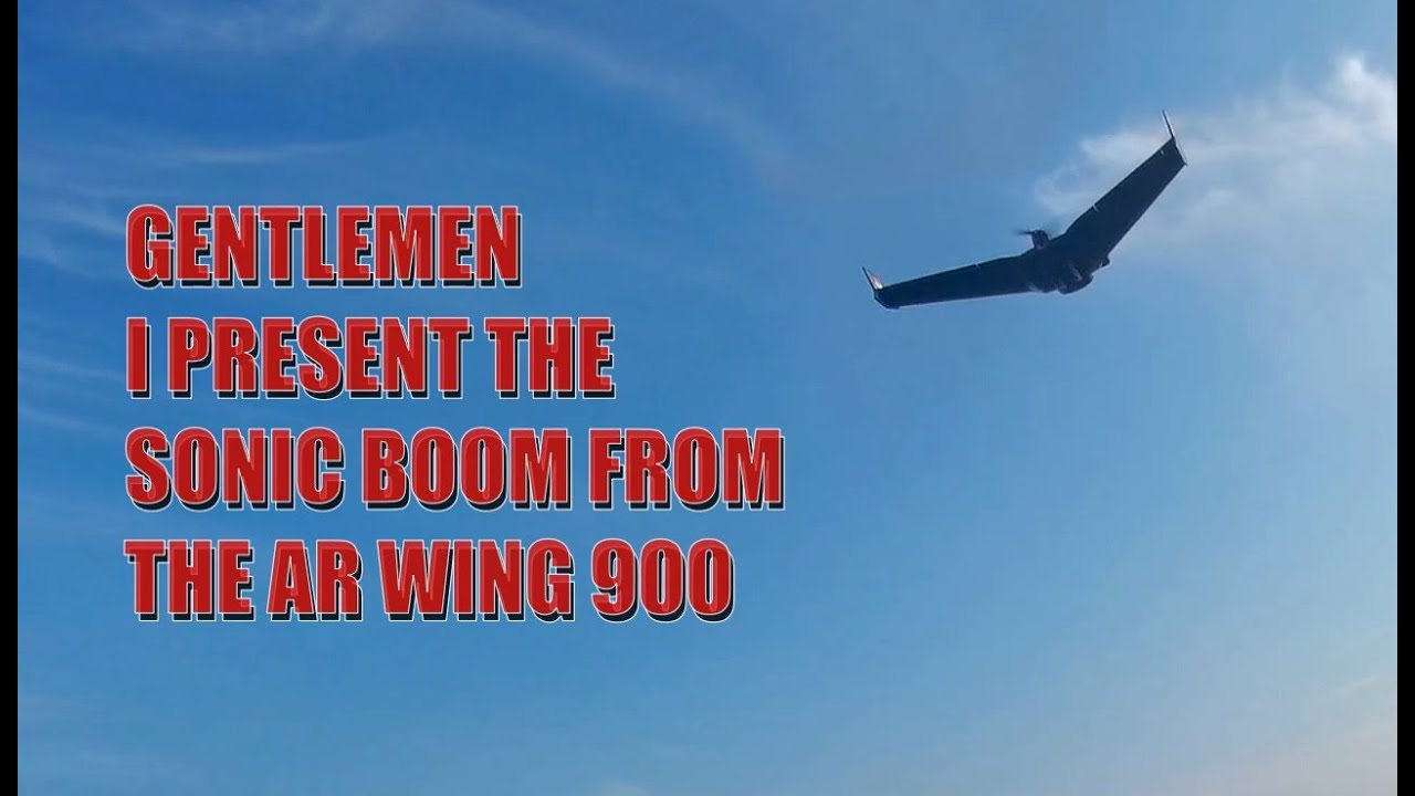 """LOS FLIGHT with Sonic""""BOOM""""modell AR Wing900 - YouTube"""