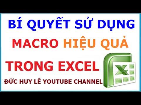 Hướng dẫn sử dụng Macro trong Excel hiệu quả nhất