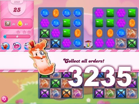 Candy Crush Saga Level 3235 (3 stars, No boosters)