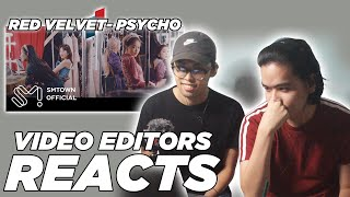 VIDEO EDITORS REACT TO Red Velvet 레드벨벳 'Psycho' MV